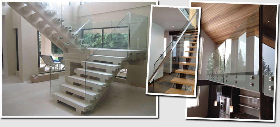 glass hand railings