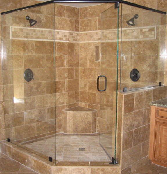 Custom Shower And Shower Doors Solid Glass Shower Shower