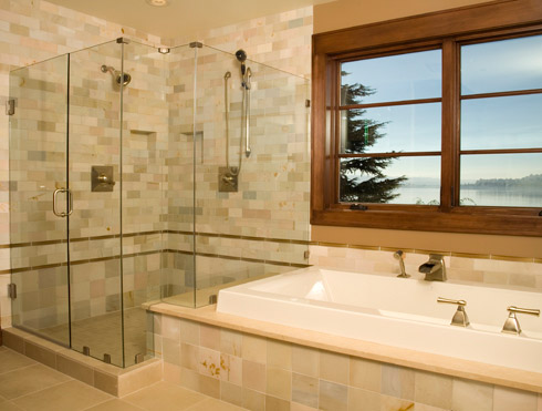 Custom Shower And Shower Doors Solid Glass Shower